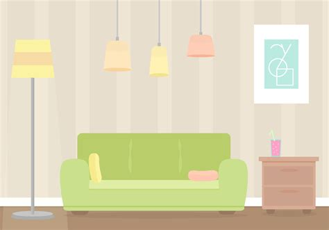 Livingroom Lamp free living room vector download free vector art stock