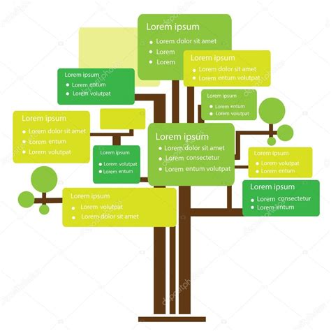 Tree Template Concept Infographic Design Stock Vector 169 Imfine 41691523 Family Tree Template Info Graphics