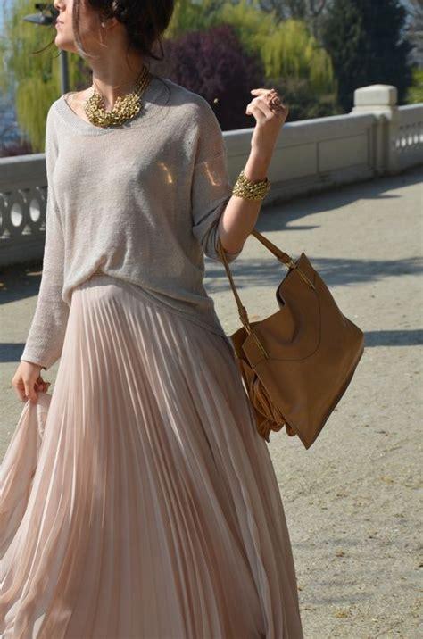 Maika Maxi blush pleated skirt blush happy maxi