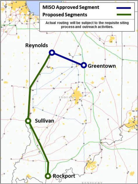 transmission lines map rockport to greentown transmission line center for rural