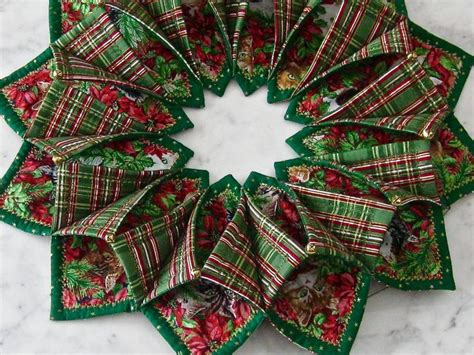 pattern for fabric wreath 1000 images about fold and stitch wreath on pinterest