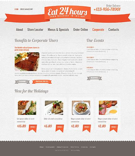 templates for catering website catering website template 39142