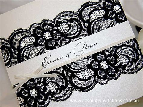 wedding invitation lace design black lace wedding invitations