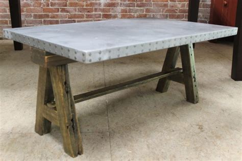 round zinc table top zinc tables and metal bases ecustomfinishes
