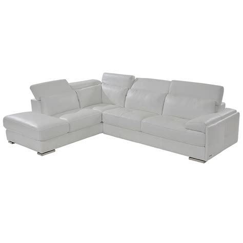 white leather sofa with chaise kennedy white leather sofa w left chaise el dorado furniture