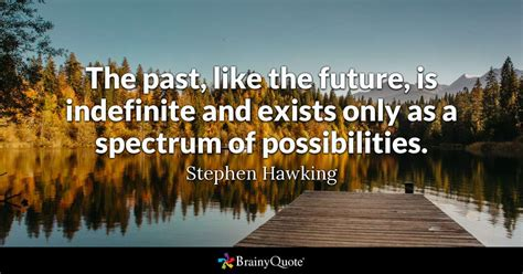 The Past Like The Future Is Indefinite And Exists Only