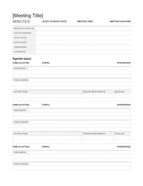 Minutes Office Com Microsoft Office Meeting Minutes Template