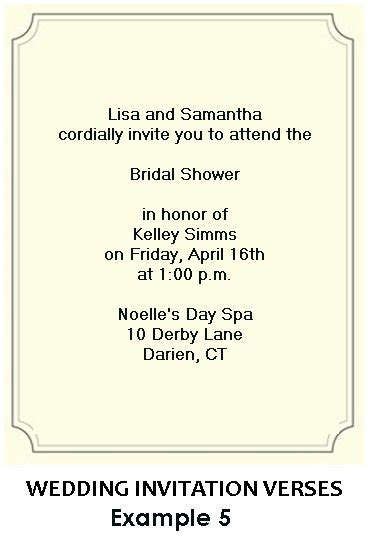 poems for bridal shower invitations bridal shower invitation wording exles