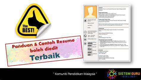 panduan membuat resume terbaik sistem guru online komuniti pendidikan malaysia