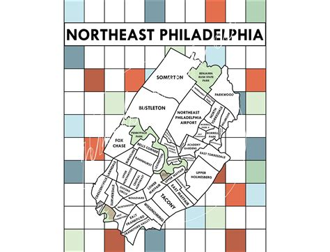 worst sections of philadelphia philadelphia neighborhood poster map black and white