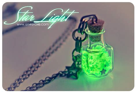 glow in the glass glow in the bottle necklace glowing light glass