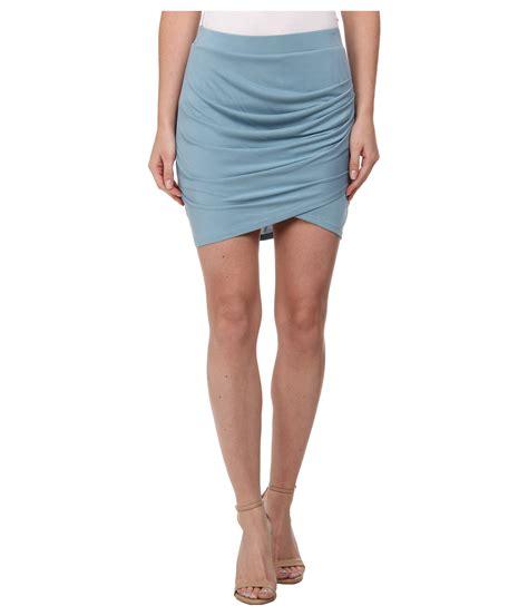 bcbgmaxazria pleated tulip skirt in blue lyst