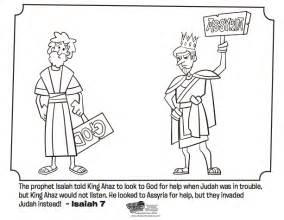 isaiah and ahaz bible coloring pages what s in the bible