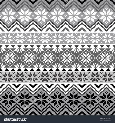 grey graphic pattern nordic traditional pattern with snowflakes white and grey