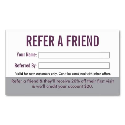 Salon Referral Business Card By Inspyre Design Refer A Friend Salon Suites Pinterest Refer A Friend Coupon Template