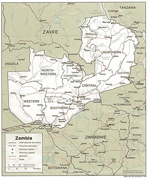 zambia map zambia maps perry casta 241 eda map collection ut library