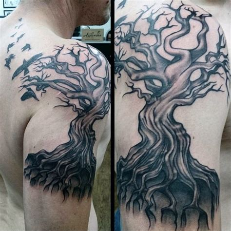 tree and ravens tattoo design 100 designs for scavenge sooty bird ink