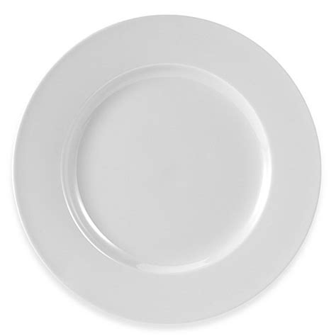 bed bath and beyond dinner plates everyday white 174 by fitz and floyd 174 rim round dinner plate
