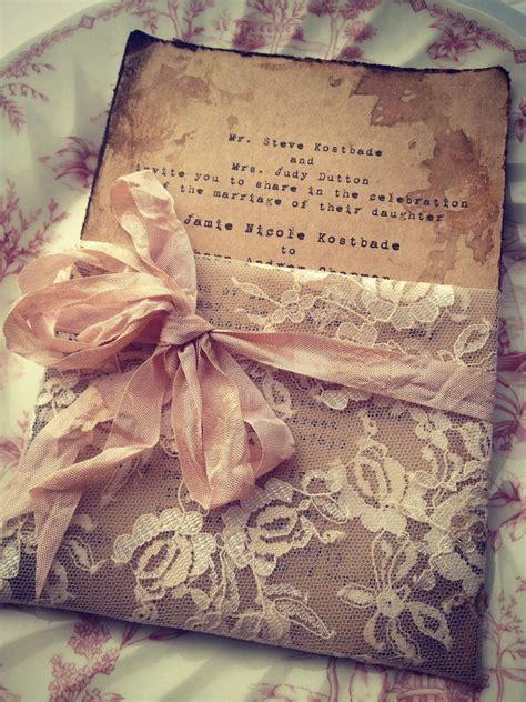 Handmade High - lace invitation high end handmade wedding bridal shower
