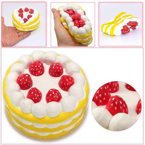 Squishy Vlo Strawberry Cake Original areedy squishy jumbo colossale torta rotonda di crema dolce fragola giocattolo