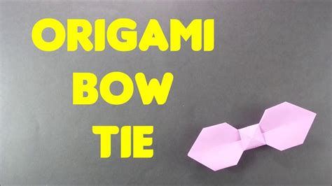 Easy Origami Bow Tie - bow tie origami gallery craft decoration ideas
