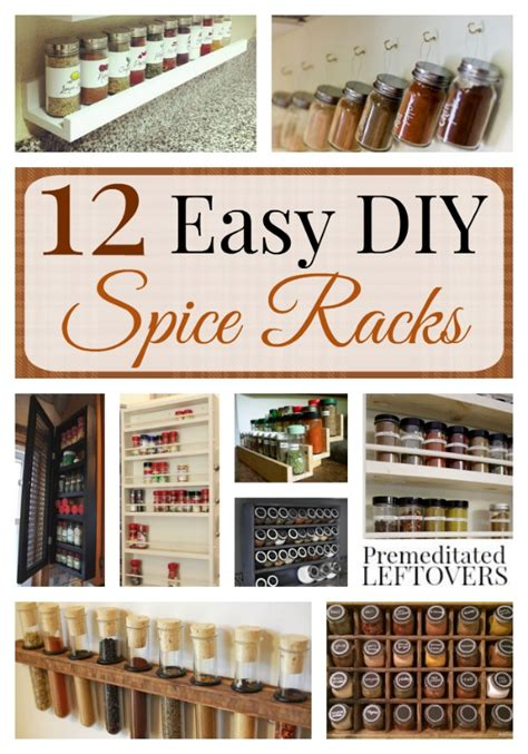 diy shelf spice rack easy diy spice racks