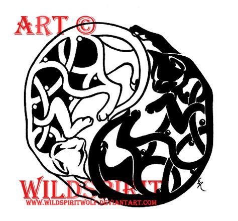 celtic cat tattoo designs yin yang celtic cat by wildspiritwolf on deviantart