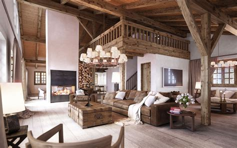 rustic interior design styles log cabin lodge