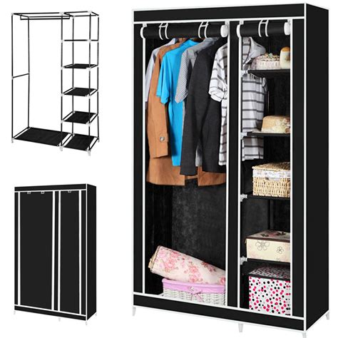Canvas Wardrobes by Canvas Wardrobe With Hanging Rail Home