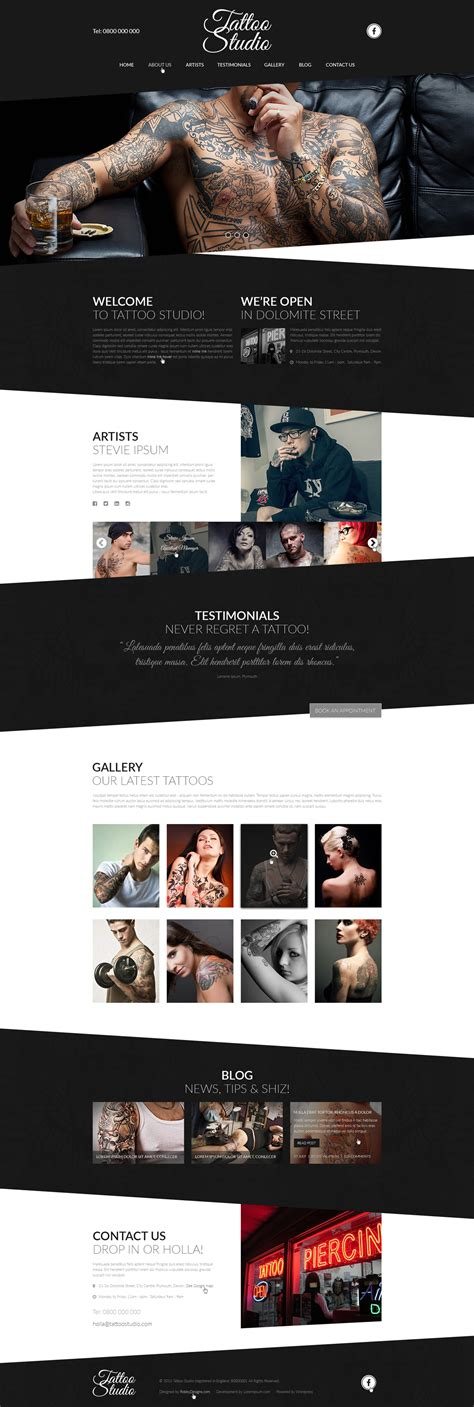 tattoo designs website templates free studio psd website designs free