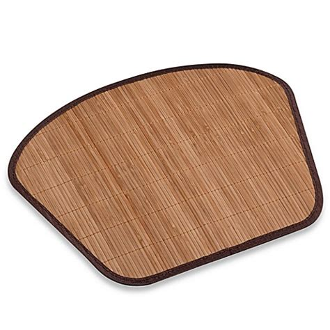 bamboo brown wedge placemat bed bath beyond