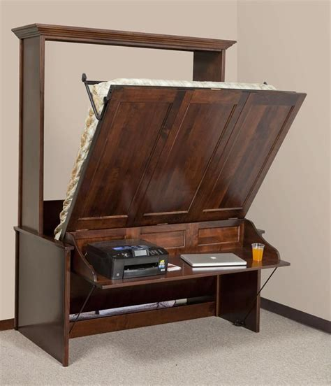 Diy Bed Desk Best 25 Murphy Bed With Desk Ideas On Pinterest Office With Murphy Bed Diy Murphy Bed And