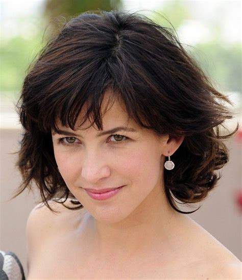 womens haircut in dc layered short cut for women over 40 sophie marceau
