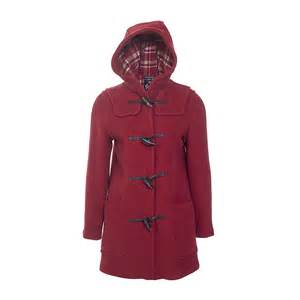 Coats casual jackets gloverall duffle coat for women in cranberry