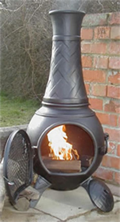 Buy Chiminea Uk Buy The Basketweave Cast Iron Chiminea From The