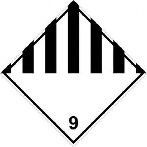 Gefahrgut Aufkleber Kaufen by Gefahrgut Aufkleber Quot Klasse 9 Quot Verschiedene Gef 228 Hrliche