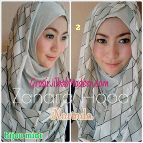 Instant Murah Jilbab Zahara Daily jilbab hoodie instant zahara no 2 hijau mint grosir