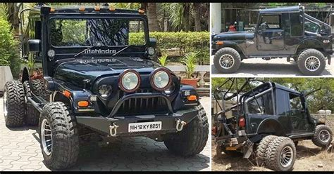 mahindra thar crde 4x4 ac modified modified mahindra thar suv by grizzly motor works pune