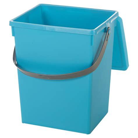 bench top bin 5 litre small table top food recycling bin kitchen worktop