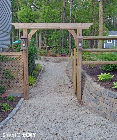 garden trellis plans diy garden arbor smart girls diy diy ideas pinterest