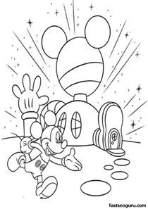 mickey mouse clubhouse coloring pages printable coloring pages mickey mouse clubhouse