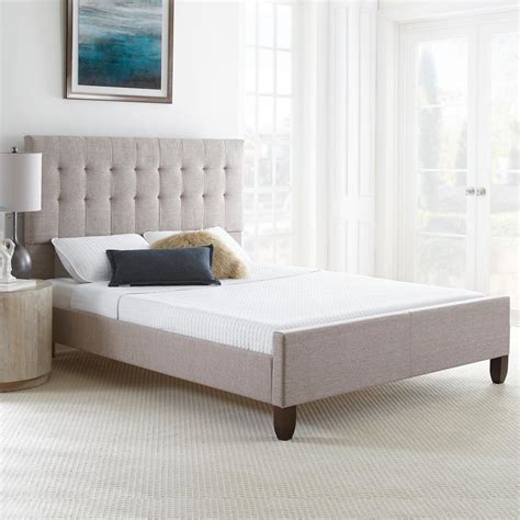 tan n bed rest rite hayleigh tan tufted tweed upholstered platform