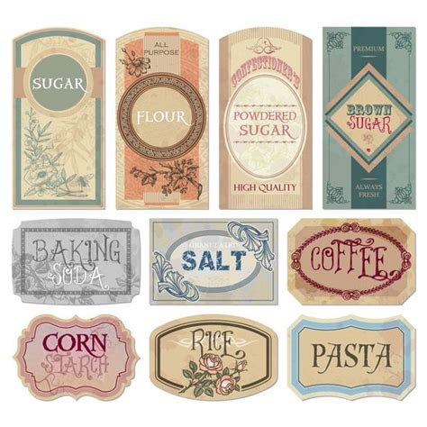 printable food jar labels free printable vintage labels for jars and canisters to