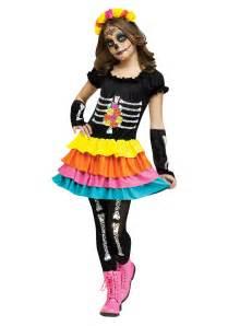 Day Of The Dead Halloween Costumes Dia De Los Muertos Child Costume