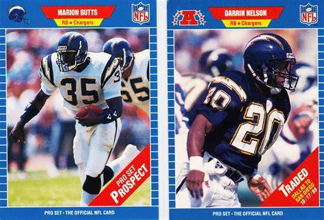 Nfl Com Gift Card - the 1989 nfl pro set football cards chargers cards from a forgettable season bolts