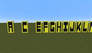 how to make all of the alphabet using minecraft banners