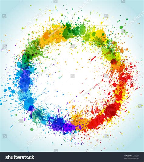 color paint splashes background gradient stock vector 67203601