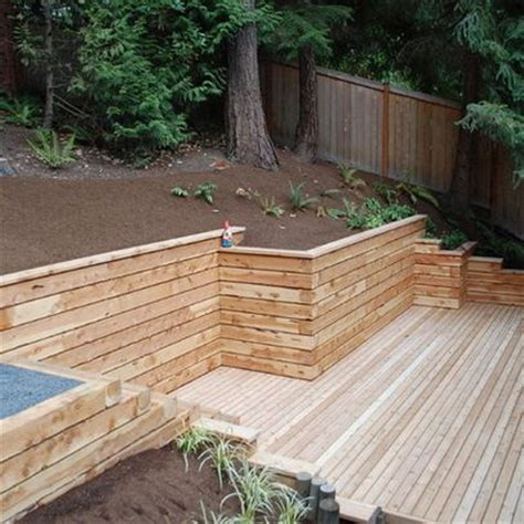 Landscape Timbers Decorating 1000 Ideas About Retaining Wall Design On