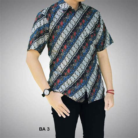 Batik Pria Motif Batmono kemeja batik pria motif abstrak ba 3 batik prasetyo