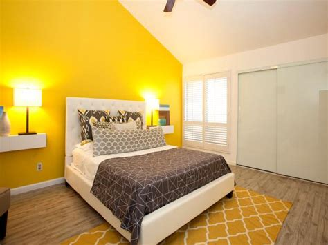 modern yellow bedroom photo page hgtv